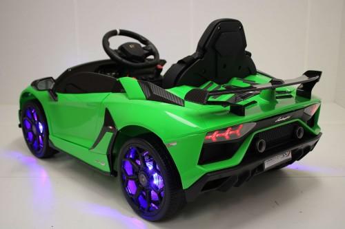 Детский электромобиль Lamborghini Aventador SVJ (A333MP) зеленый