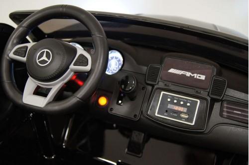 Детский электромобиль GLS63 AMG черный глянец