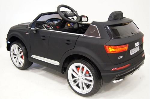 Детский электромобиль Ауди Q7 quattro черный матовый