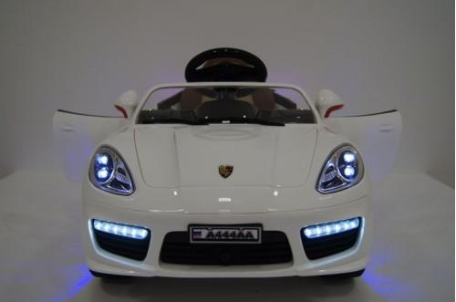 Детский электромобиль А444АА белый (кожа)