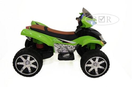 Детский электроквадроцикл Е005КХ зеленый (кожа)