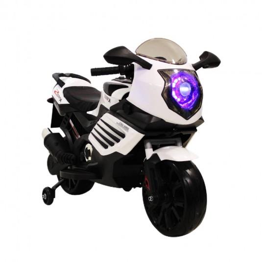 Детский электромотоцикл K333KK белый