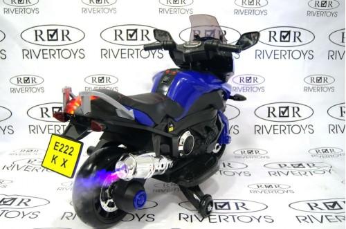 Детский электромотоцикл Е222КХ синий