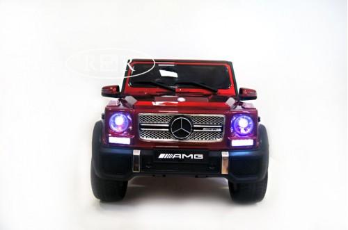 Детский электромобиль Мercedes-Benz AMG G65 вишневый глянец
