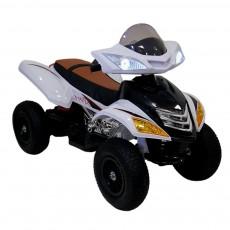 Детский электроквадроцикл Е005КХ-А белый (кожа)