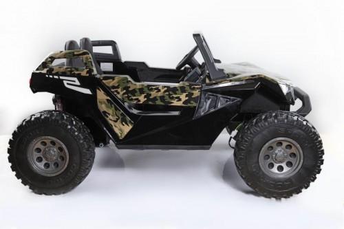 Детский электромобиль Buggy A707АА зеленый камуфляж