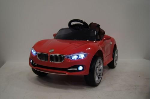 Детский электромобиль O111OO красный (кожа)