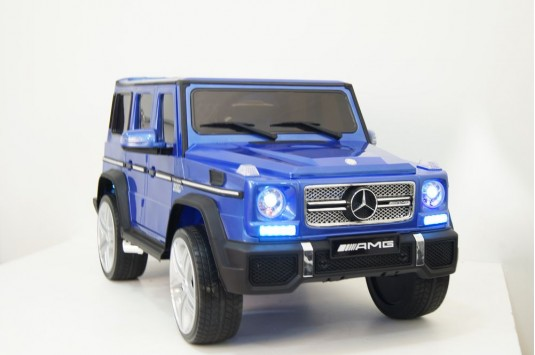 Детский электромобиль Мercedes-Benz AMG G65 синий глянец