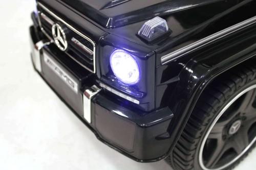 Детский толокар Mercedes JQ663 (G63) черный-кожа