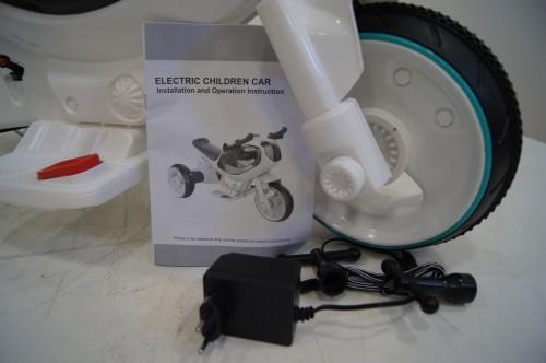 Детский электромотоцикл HC-1388 белый