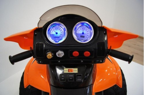Детский электроквадроцикл E005KX оранжевый