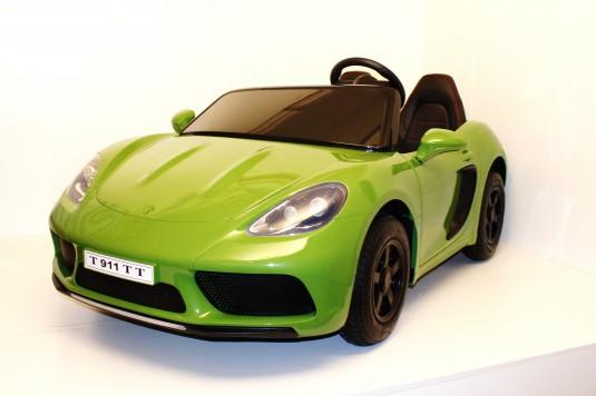 Детский электромобиль Т911ТТ зеленый глянец
