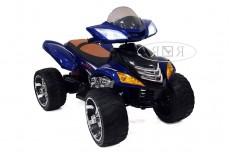 Детский электроквадроцикл Е005КХ синий (кожа)