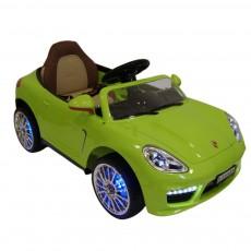 Детский электромобиль A444AA зеленый (кожа)