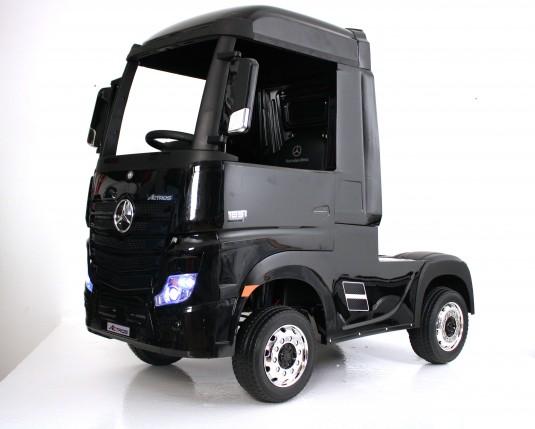 Детский электромобиль Mercedes-Benz Actros 4WD с прицепом (HL358) черный глянец