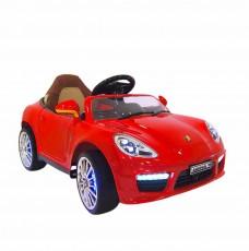 Детский электромобиль A444AA красный (кожа)