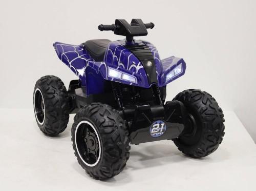 Детский электроквадроцикл T777TT синий-spider