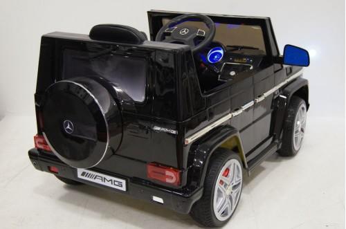 Детский электромобиль Benz G65 (LS-528) черный глянец
