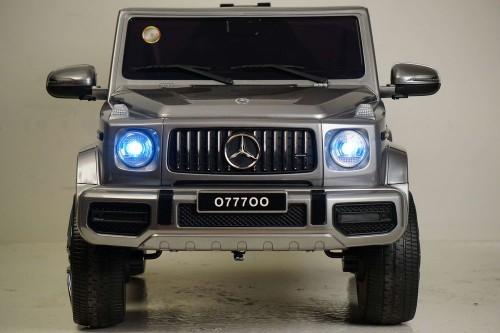 Детский электромобиль Mercedes-AMG G63 (O777OO) серый глянец