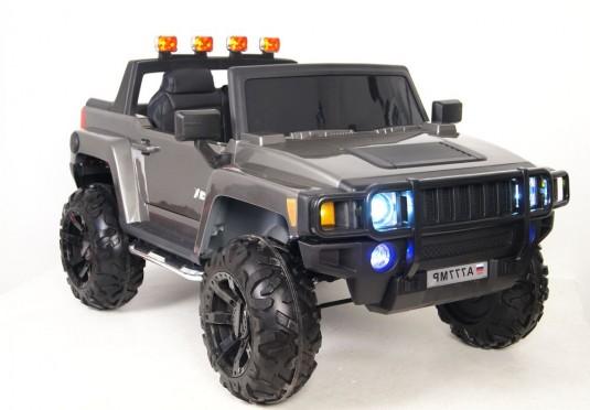 Детский электромобиль A777MP серебристый глянец