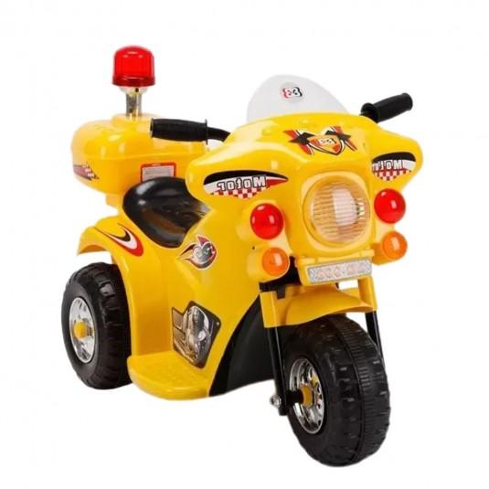 Детский электромотоцикл 998 желтый