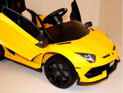 Детский электромобиль Lamborghini Aventador SVJ (A333MP-A) желтый