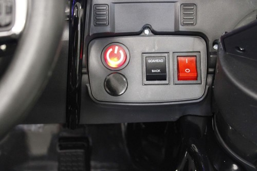 Детский электромобиль Land Rover o111oo черный глянец