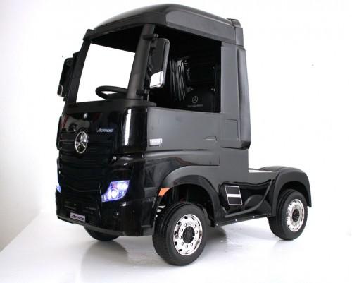 Детский электромобиль Mercedes-Benz Actros HL358 черный глянец